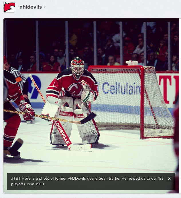 New Jersey Devils Instagram